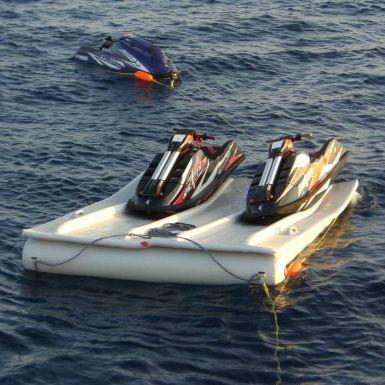 floating dock / jet-ski drive-on / for marinas / plastic