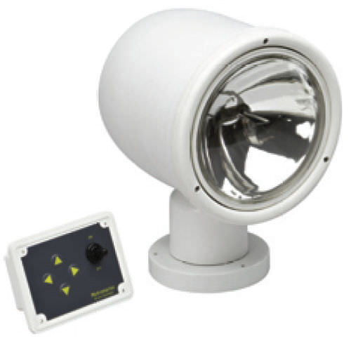 search floodlight / for boats / remote-controlled