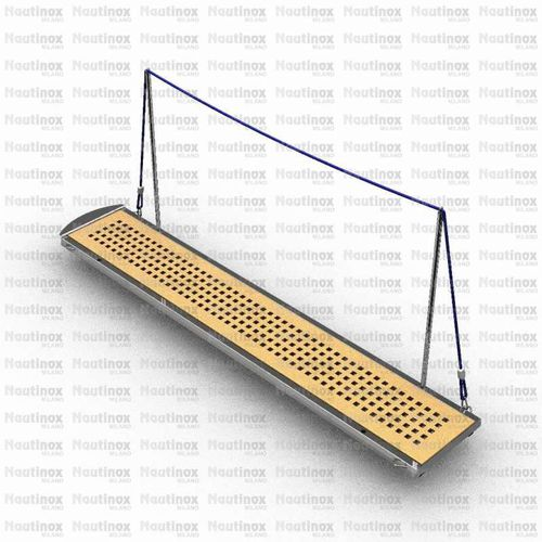 boat gangway / manual / with handrails / stainless steel