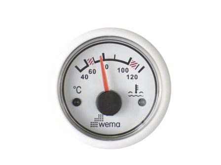 Boat indicator / water temperature / analog IPTR-xx-40-120 series Wema System