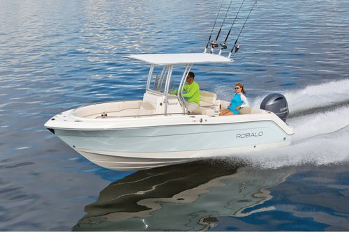 Outboard center console boat / sport-fishing / 10-person max. / with T-top R222 Robalo