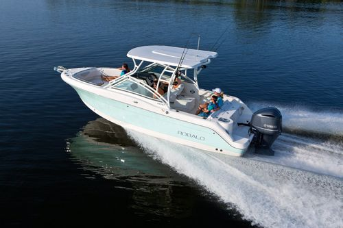 Outboard runabout / twin-engine / bowrider / sport-fishing R247 Robalo