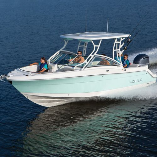 outboard runabout / twin-engine / bowrider / sport-fishing