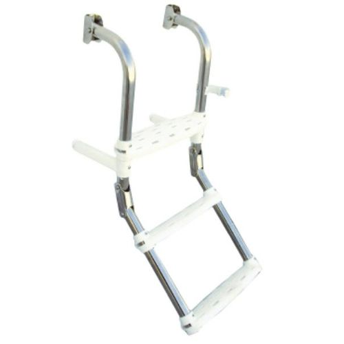 boat ladder / folding / boarding / manual