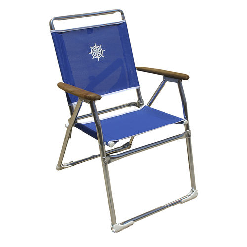 Standard boat chair / folding / with armrests / aluminum PA160BT Forma Marine Ltd