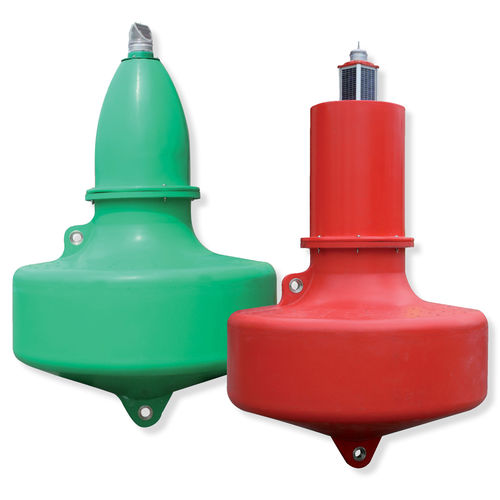 beacon buoy / channel / with signal light / stainless steel