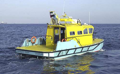 Inboard patrol boat / catamaran / hydro-jet ALN 034 'Lamnalco Tiger' Alnmaritec