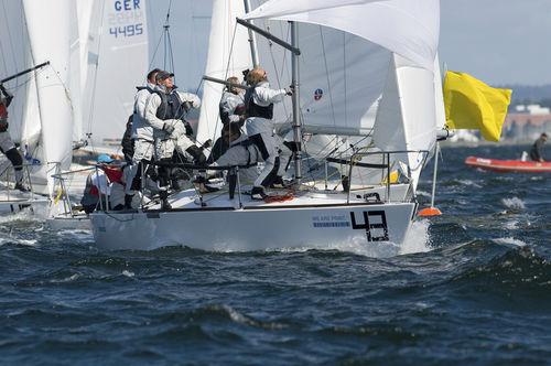 Genoa / for one-design sport keelboats / J24 / tri-radial cut Ullman Sails