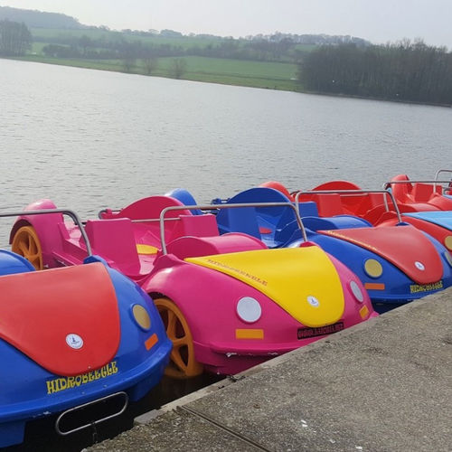 4-seater pedal boat / with slide / motorized