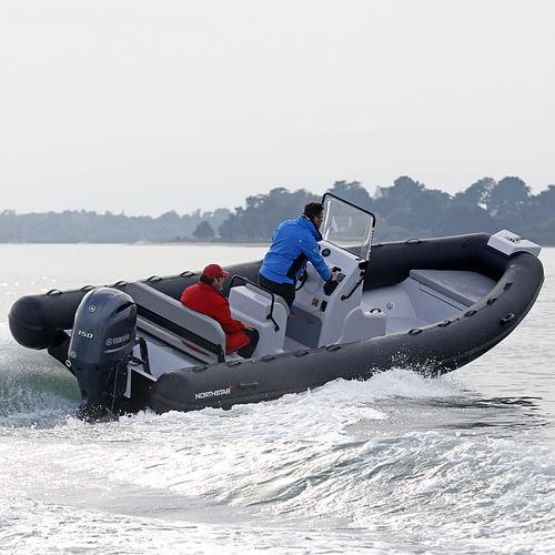 outboard inflatable boat / rigid / center console / 14-person max.