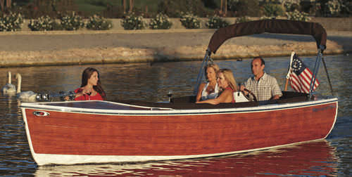 electric small boat / wooden / classic