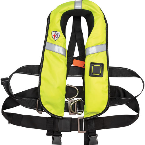 self-inflating life jacket / with safety harness / professional