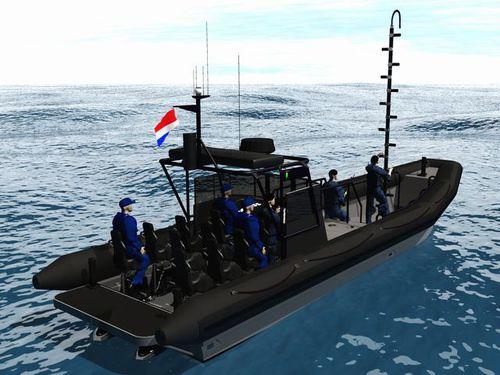 patrol boat / inboard / diesel / rigid hull inflatable boat