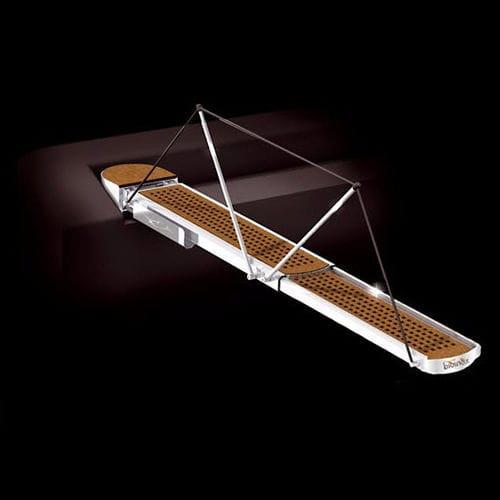 boat gangway / telescopic / rotating / hydraulic