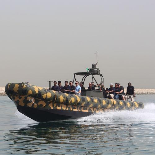 hydro-jet inflatable boat / RHIB / hard-top / aluminum