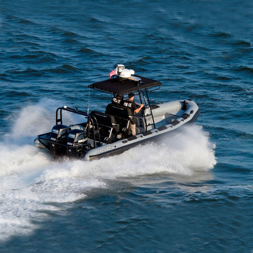 Outboard patrol boat / rigid hull inflatable boat Law Enforcement RIB Boat 8.0 ASIS BOATS