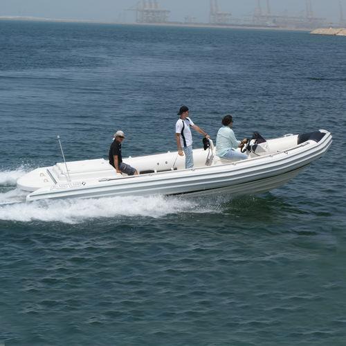 inboard multi-purpose work boat / rigid hull inflatable boat
