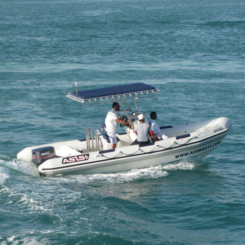 Outboard harbor service boat / rigid hull inflatable boat Sail Support / Towing RHIB 6.5 ASIS BOATS