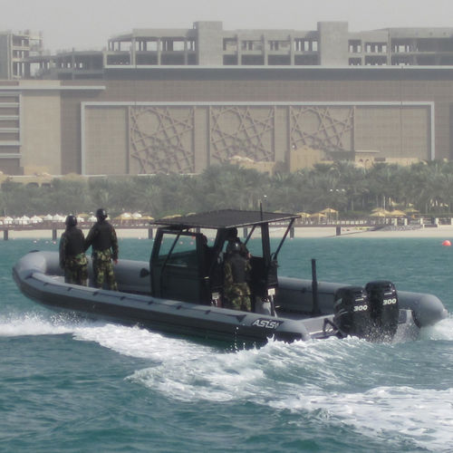 Inboard anti-piracy boat / outboard / rigid hull inflatable boat Anti Piracy RHIB 12 ASIS BOATS