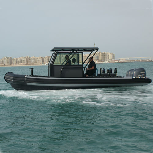 Outboard military boat / rigid hull inflatable boat / aluminum Riverine 8 ASIS BOATS