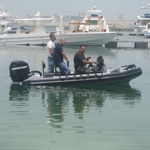 Outboard military boat / rigid hull inflatable boat / aluminum Navy Boat 4.1 ASIS BOATS