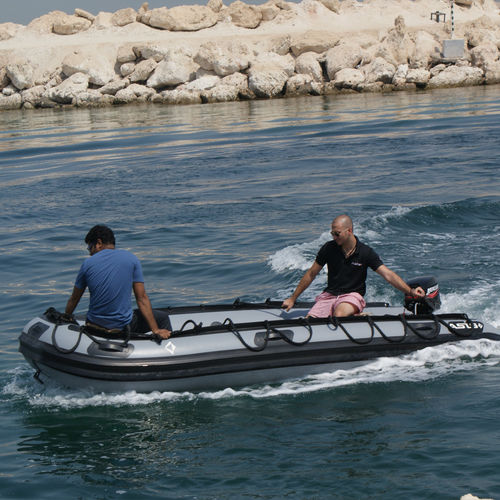 outboard military boat / foldable inflatable boat / inflatable boat