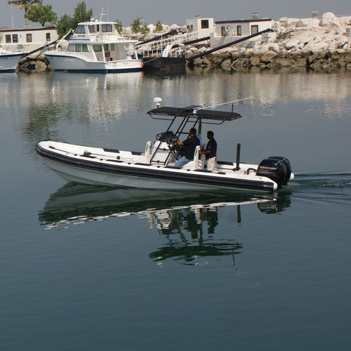 Outboard harbor service boat / rigid hull inflatable boat Sail Support / Towing RIB 8.0 ASIS BOATS