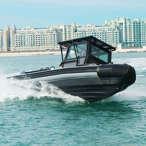 Outboard military boat / rigid hull inflatable boat Riverine RIB Boat 8.0 ASIS BOATS