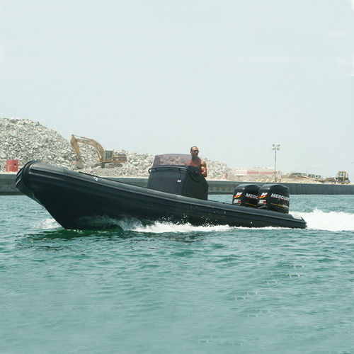 military boat / outboard / rigid hull inflatable boat