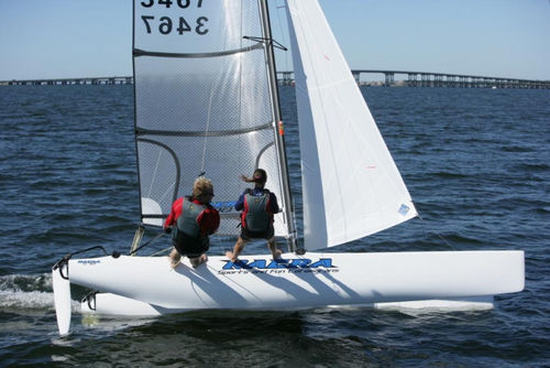 coastal racing sport catamaran / double-handed / double-trapeze