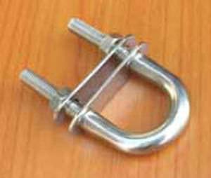 fixed pad eye for sailboats / U-shaped