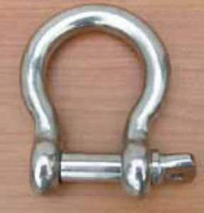 bow shackle for sailboats / forged / stainless steel