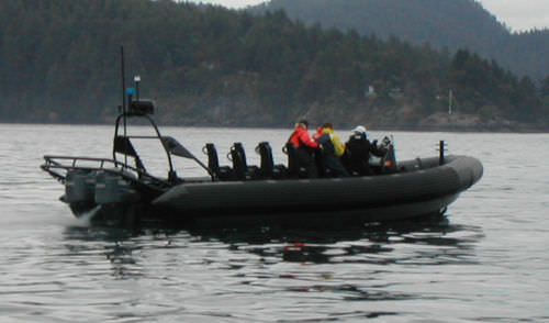 outboard military boat / aluminum / rigid hull inflatable boat