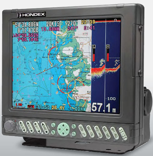 GPS / fishfinder / chart plotter / for ships HE-7301II / HE-7302II Hondex
