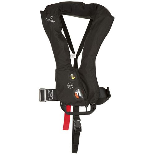self-inflating life jacket / with safety harness