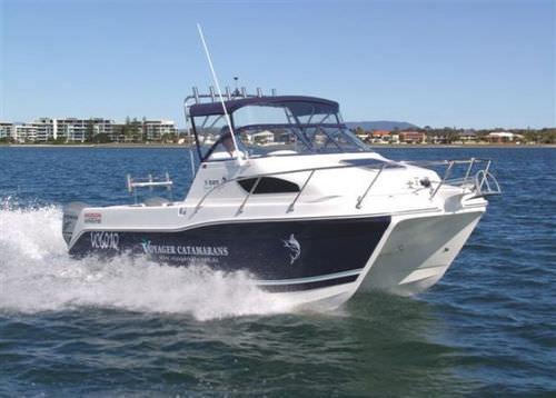 catamaran cabin cruiser / outboard / open / sport-fishing
