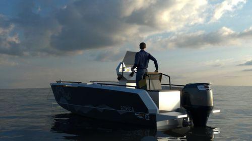 Outboard center console boat / aluminum FOXSEA 6 BORD A BORD