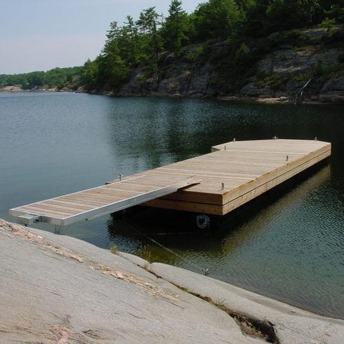 floating dock / mooring / for marinas / wooden
