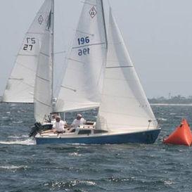 jib / for one-design sailboats / cross-cut