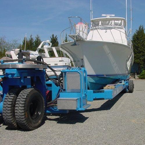 heavy-duty handling trailer / shipyard / self-propelled / remotely controlled