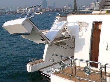 yacht door / stern