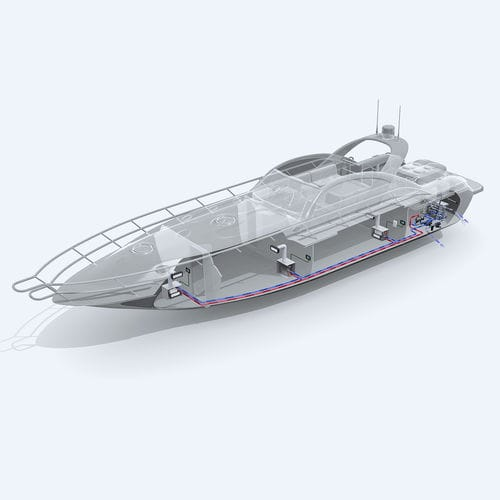 boat combined heater-air conditioner / for yachts