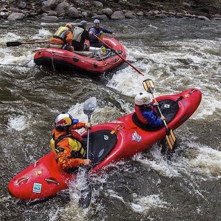 rigid kayak / white-water / two-seater