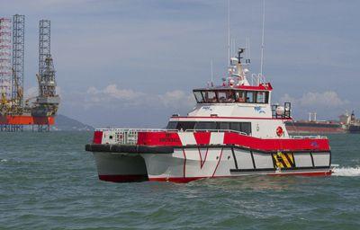 wind farm service boat