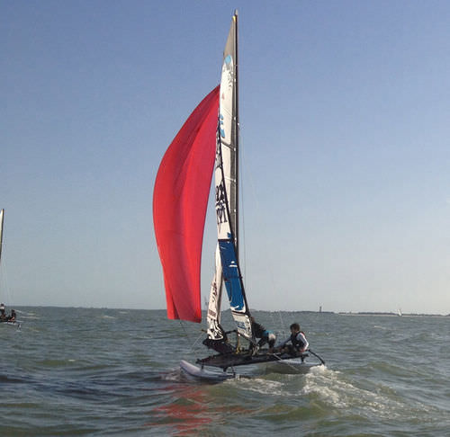 Asymmetric spinnaker / for sport multihulls / Hobie Cat 16 SPHB160000 Forward Sailing