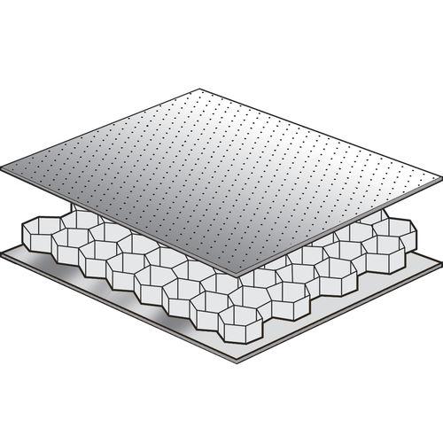 soundproofing sandwich panel / aluminum honeycomb / aluminum
