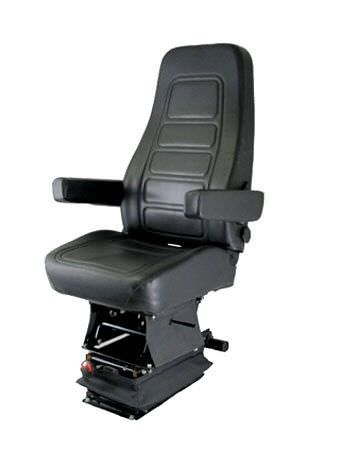 helm seat / for ships / with suspension / high-back