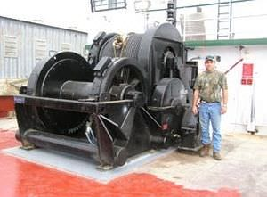 ship winch / towing / diesel engine / double-drum