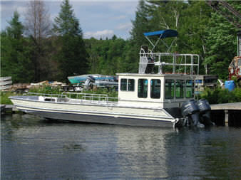 outboard work barge / aluminum