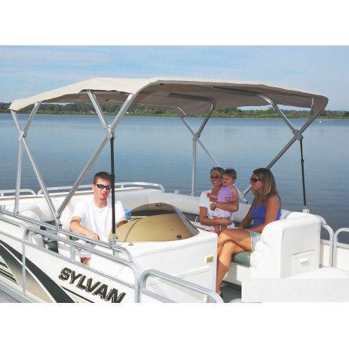 cockpit Bimini top / for power boats / aluminum frame